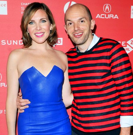 June Diane Raphael with her husband Paul Scheer