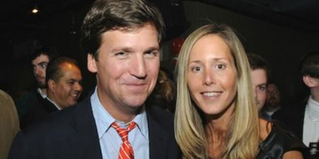 Tucker Carlson with his wife