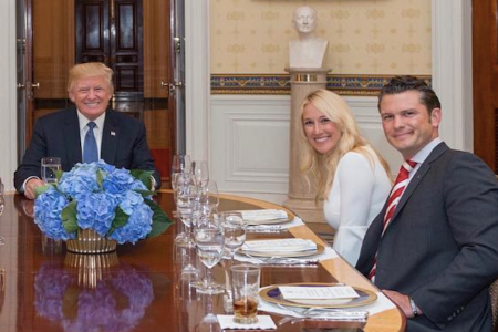 Jennifer with Pete and Trump