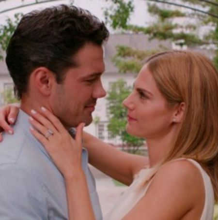 Ryan Paevey with Jocelyn Hudson in From Friend to Fiancee