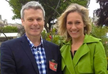 Sophie Raworth with her husband Richard Winter