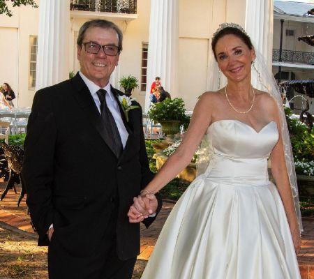 Rodger Bumpass walked down the aisle with her partner, Angela Ann VanZandt.